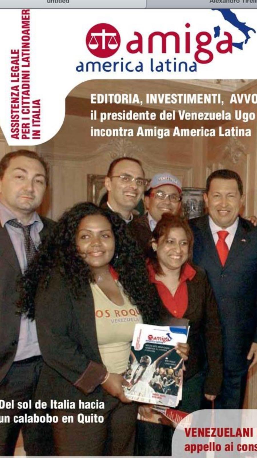Alexandro Maria Tirelli e Presidente Hugo Chavez