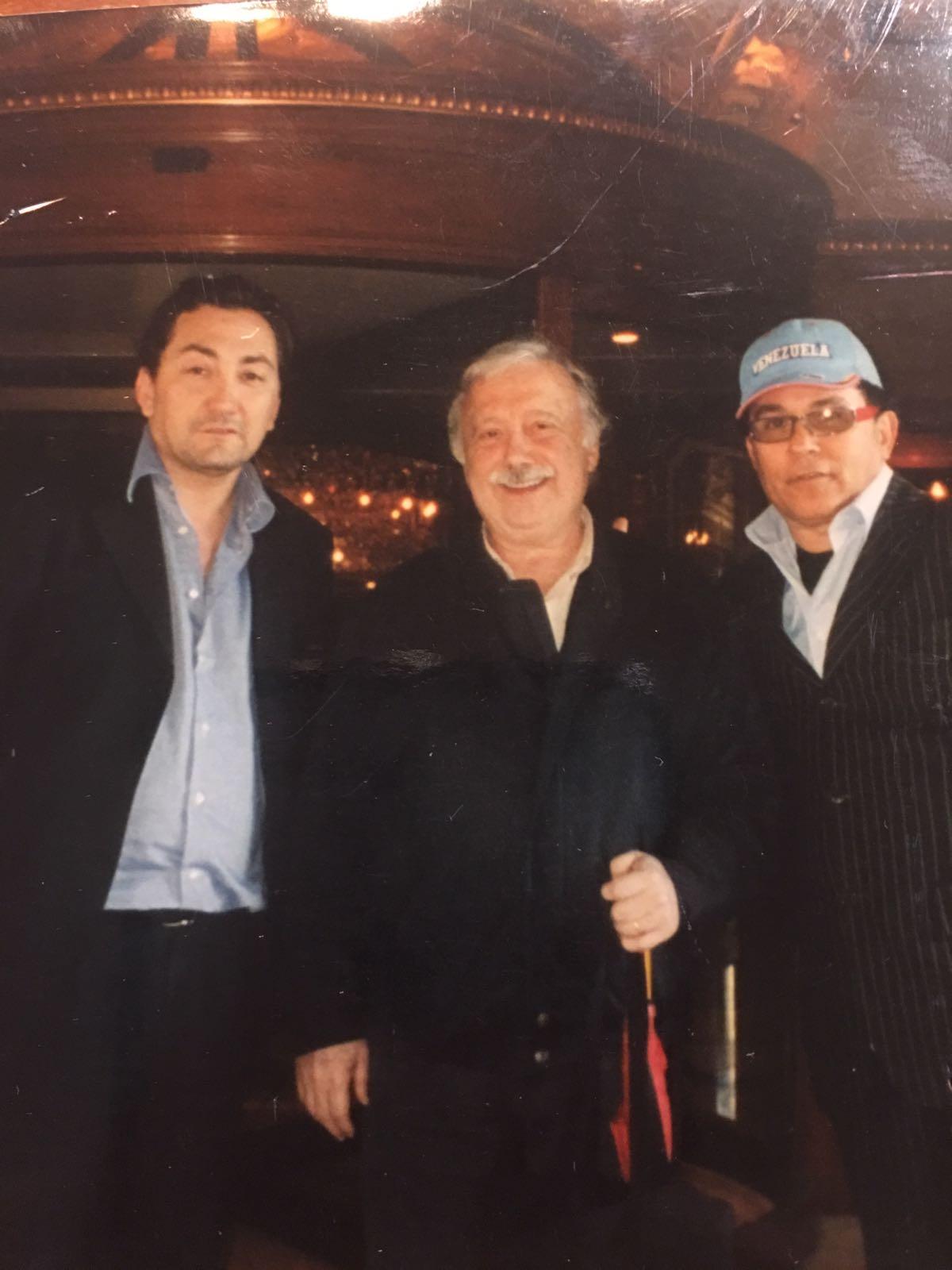 Avvocato Alexandro Tirelli con Gianni Mina