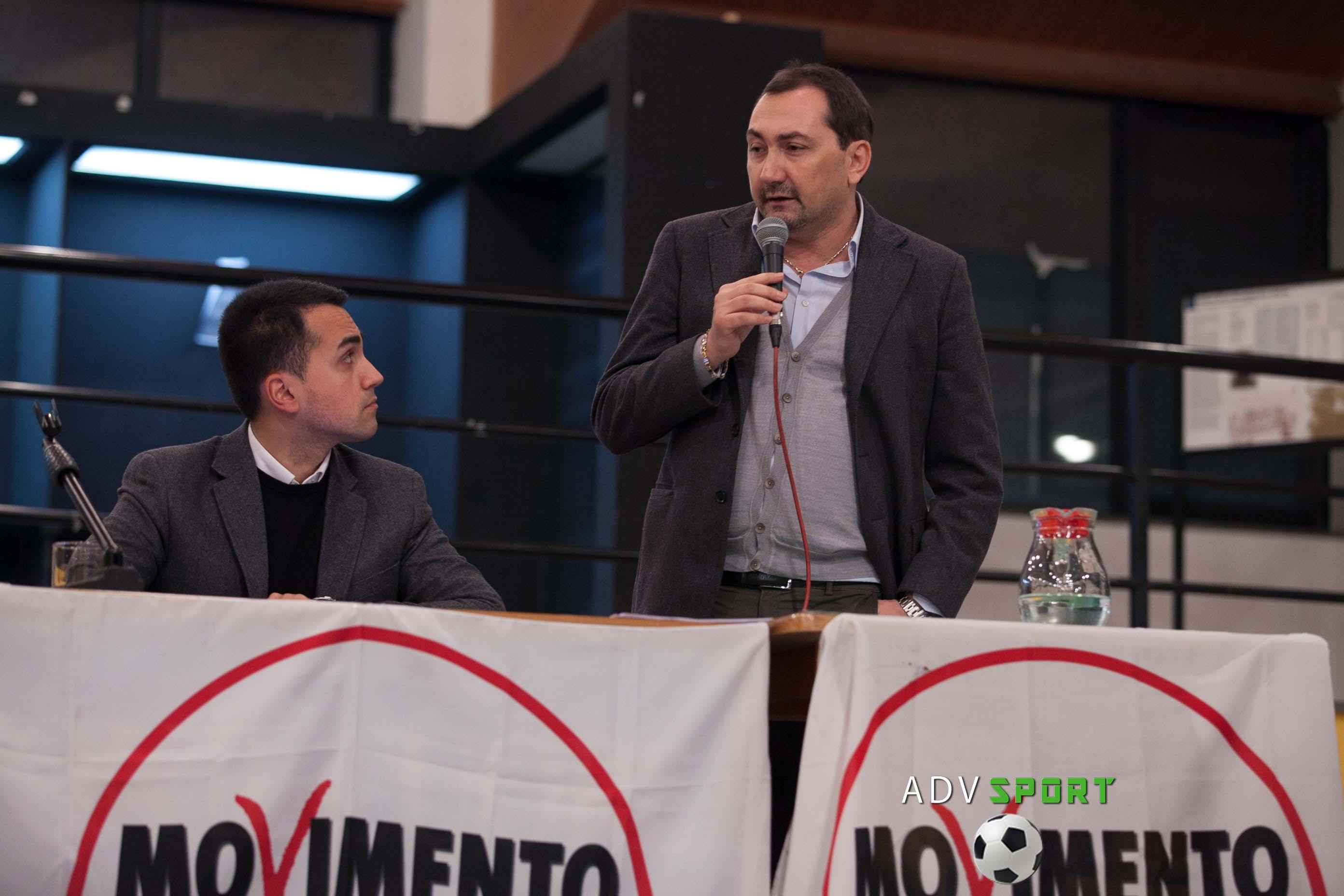 el abogado Alexandro Tirelli con el candidato al cargo de promer ministro de la Republica Italiana, Luigi Di Maio