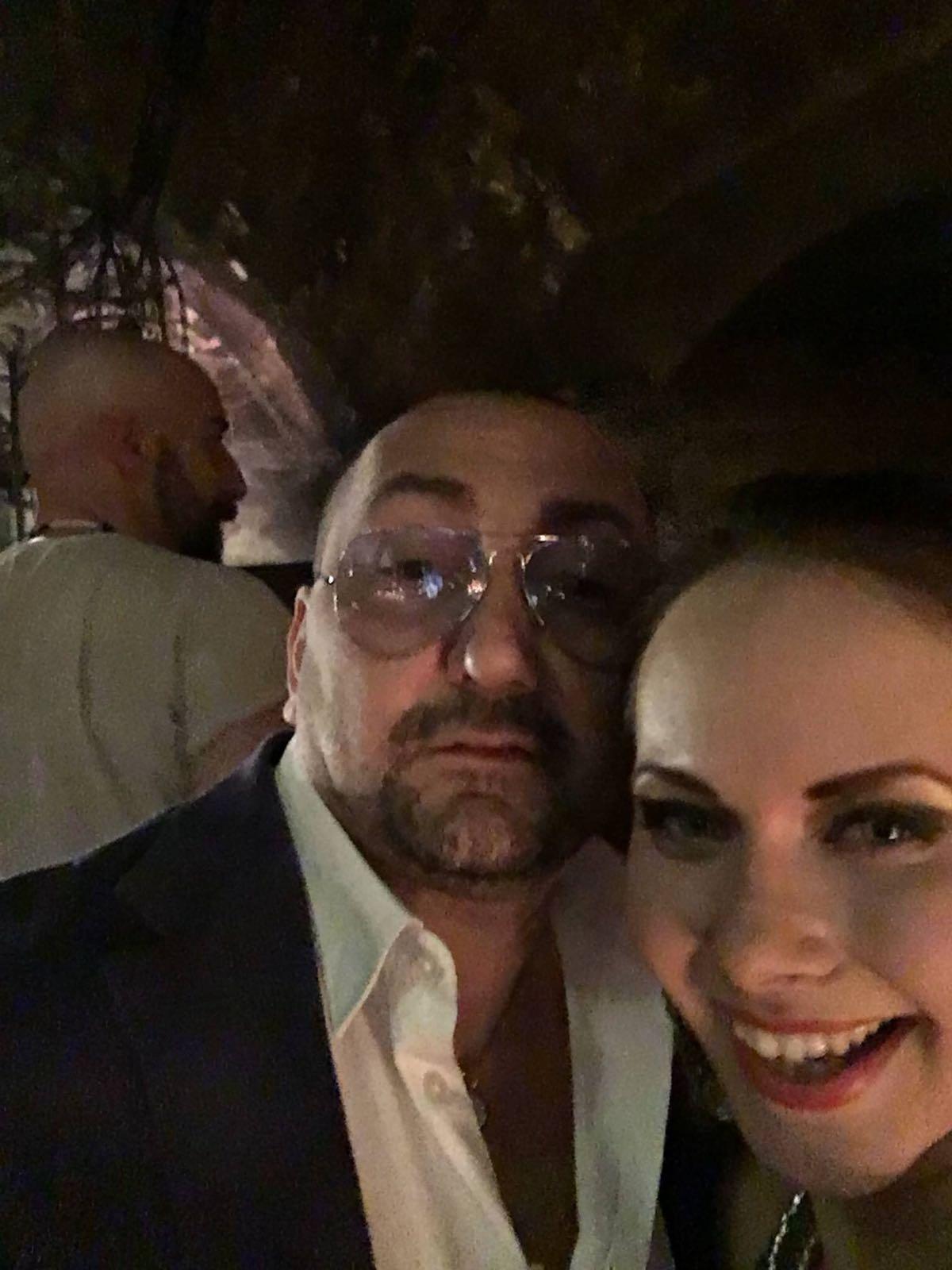 Alexandro Maria Tirelli al tempo di un suo flirt con una notissima attrice americana